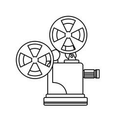 line short film video camera studio vector image vector image