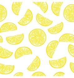 Seamless sliced lemon pattern vector image vector image
