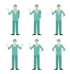 Set of surgeons vector image