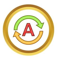 Translation language icon vector image vector image