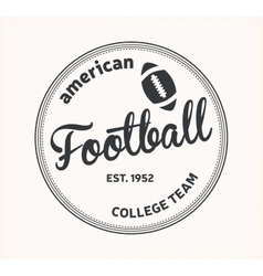 American Football logo vector image vector image