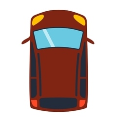 Car top view vector image vector image