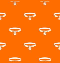 cat collar pattern seamless vector image
