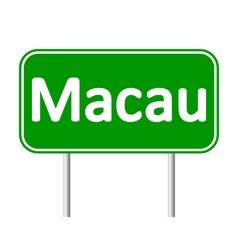 Macau road sign vector
