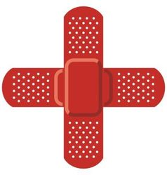 Red cross - Adhesive bandage vector image vector image