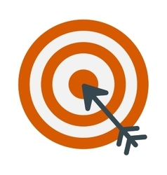 Successful shoot goal icon darts target aim on vector image vector image