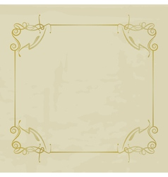vintage background with a frame vector image vector image