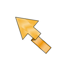 yellow arrow direction location up vector image