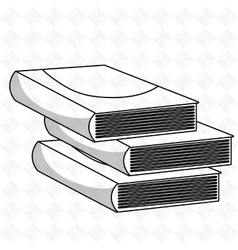 books isolated icon design vector image vector image