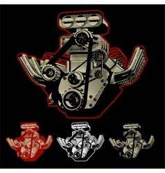 Cartoon Turbo Engine vector image vector image