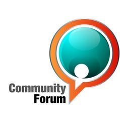 community forum vector image