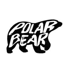 Polar bear silhouette vector image vector image
