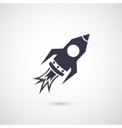 rocket icon isolated on background vector image vector image