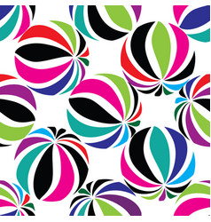 Abastract geometric striped ball seamless pattern vector