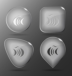 Abstract fish Glass buttons vector