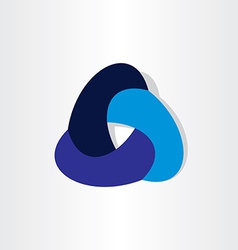Abstract infinity symbol design vector