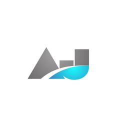 Alphabet letter aj a j logo company icon design vector