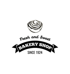 Bakery shop Fresh and sweet Logo Badge vector image