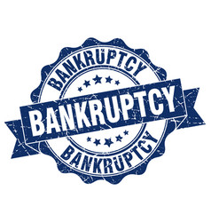 Bankruptcy stamp sign seal vector