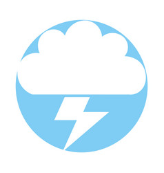 Beautiful fantasy cloud with ray storm electric vector