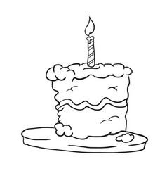 birthday cake black vector image