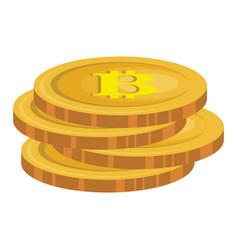 bitcoin electronic money icon vector image