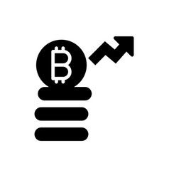 Bitcoin investment icon vector