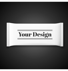 Blank white plastic sachet for medicine condoms vector image