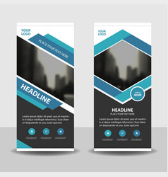 blue business roll up banner flat design vector image