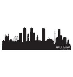 brisbane australia city skyline silhouette vector image