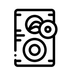 Broken dynamic icon outline vector