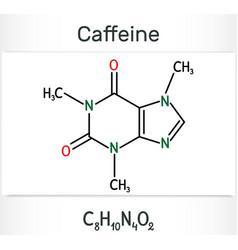 Caffeine alkaloid molecule structural chemical vector