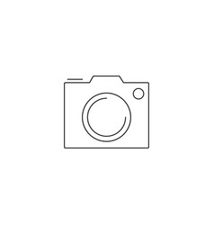 camera icon isolated pohotocamera symbol photo vector image