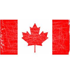 Canadian flag grunge vector