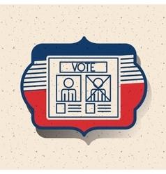 Card of vote inside frame design vector image