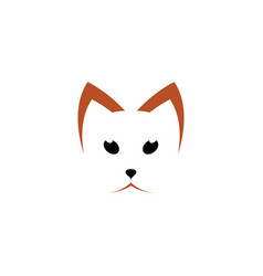 cat face icon logo sign element vector image