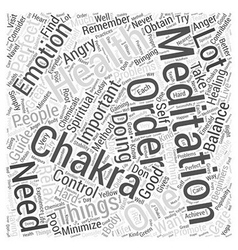 Chakra meditation Word Cloud Concept vector