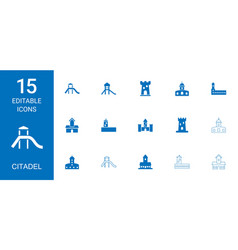 citadel icons vector image