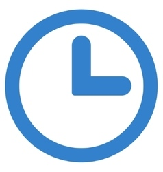 Clock flat cobalt color icon vector