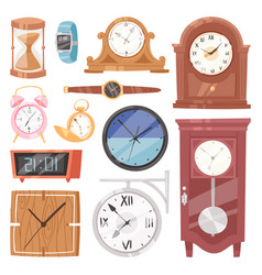 Clock watch with clockwork and clockface or vector