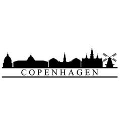 copenhagen skyline vector image