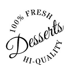 Desserts rubber grunge vector