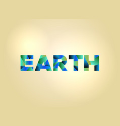 Earth concept colorful word art vector