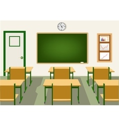 empty school classroom with blackboard vector image