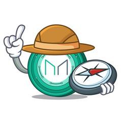 Explorer maker coin mascot cartoon vector
