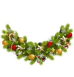 fir christmas decoration vector image