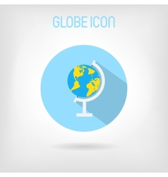 Flat-styled school globe icon vector