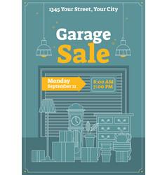 Garage sale poster or banner vector