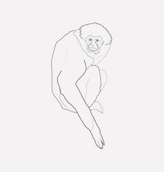 Gibbon icon line element of vector