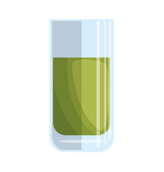 Glass with lemonade icon vector